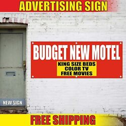 Motel Banner Advertising Vinyl Sign Flag Now Open Hotel House Welcome Beds Free