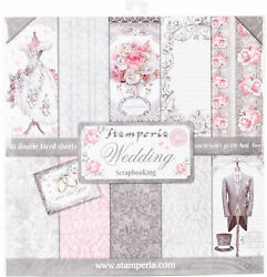 Stamperia Double-sided Paper Pad 12x12 10/pkg-wedding 10 Designs/1 Each