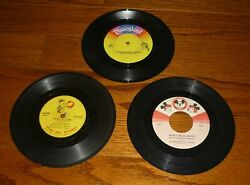 Lot Of 3 Children's Records, Disney, Peter Pan Records, Mickey Mouse, 45+78rpm