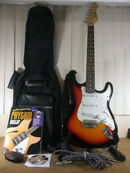 Kansas Double Cutaway S Style Sunburst Electric Guitar And Case Cable Books Dvd