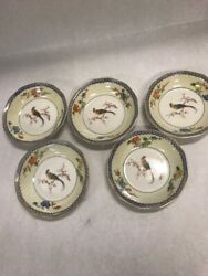 5 Small Bowls Vintage Theodore Haviland Blue Paradise China Limoge 5 Inch New