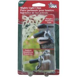 Adams Christmas White Plastic Gutter And Shingle Mighty Light Clip-on's 100-pack