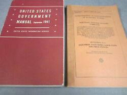 2 Us Goverment Books Directory Of Offices And Staff  Industrial Wages 1940 41