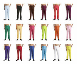 Concitor Menand039s Dress Pants Trousers Flat Front Slack Huge Selection Solid Colors