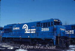 Original Slide- Cr Conrail U30b 2886 In Blue Scheme