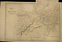 Genuine Antique Map Of The States Of Missouri And Illinois 1831-1832