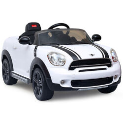 12V Electric Mini Countryman Licensed Kids Ride On Car MP3 Christmas Gifts White