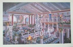 Eric Herschong Attributed To Painting Casino Of The Gods
