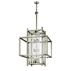 Troy Lighting Crosby 12 Light Extra Large Pendant Antique Silver Leaf - F7135