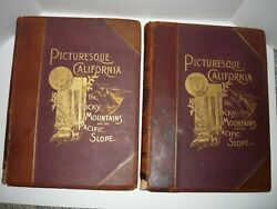 Picturesque California By John Muir,1888 Two Volumes Illustrated Rocky Mountains