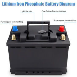 Dohon Lithium Battery 12v 40ah 1500cca Lifepo4 Off-grid Black Case Bms A123 Cell