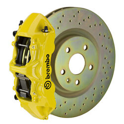 Brembo Gt Bbk For 05-14 Mustang V6 Excl. Non-abs | Front 6pot Yellow 1m4.8001a5