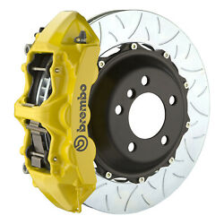 Brembo Gt Bbk For 08-10 Challenger W/v6 Engine   Front 6pot Yellow 1m3.8027a5