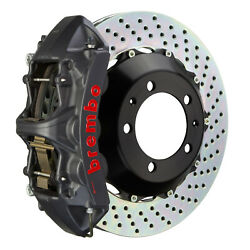 Brembo Gt-s Bbk For 05-14 Mustang V6 Front 6pot Hard Anodized 1m1.8016as