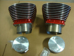 Big Dog Aih 117 Sands 4 1/8 Cylinders W/ Pistons .10 Over Candy Red Polished Fins