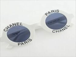 CHANEL 01945 10601 CC Coco Mark Round Logo Frame Sunglasses 691NY