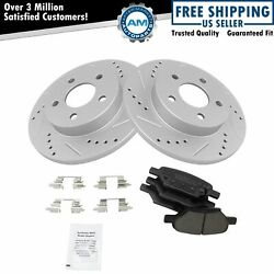 Rotor And Brake Pad Posi Ceramic Performance Drilled Slotted Rear Kit