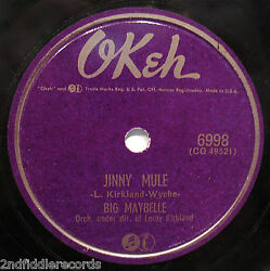 Big Maybelle-jinny Mule And Send For Me-rarer Female Vocal Blues 78-okeh 6998