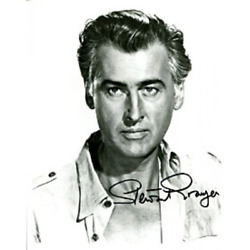 Stewart Granger Autographed / Signed Black And White 8x10 Photo James Spence