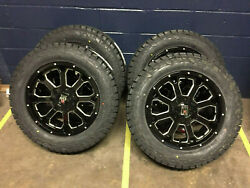 20 Xd825 Buck Black Wheels Fuel 285/55r20 Tires Package 6x135 Ford Expedition