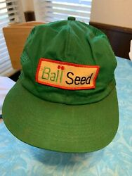Ball Seed Agriculture Snapback Truckers Cap K Products. Vintage