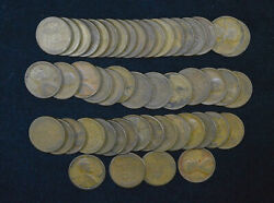 1c One Cent Penny 1928 S Average Circ Lincoln Wheat Circulated 50 Coin Roll