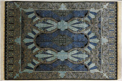 Blue 400 Kpsi Rugs For Sale 7 X 10 Ft Traditional Silk Rug High End Handmade New