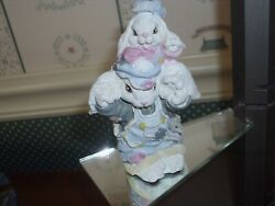 1994-patchville Bunnies Figurine -jeremiah And Jacob -very Good Condition-no Box