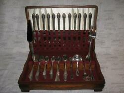 1847 Rogers Remembrance Silverplate Flatware In Wood Chest - 86 Pieces - Ca 1948