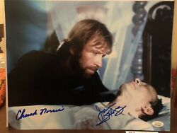 Chuck Norris And James Hong Signed Missing In Action 11x14 Jsa Witness Wpp273199