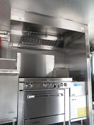 4 And039 Type L Hood Concession Kitchen Grease Hoodblowercurb / Truck / Trailers