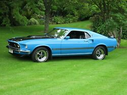 1969 Ford Mustang Mach 1 24x36 Inch Poster, Sports Car, Classic, Muscle Car