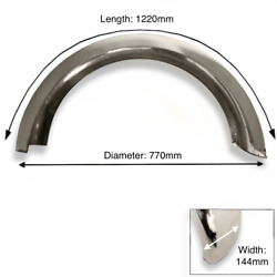 Rear Stainless Steel Mudguard 18 - 19 Inch Wheel D Section | Bsa