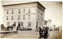 Laura Sk, Real Photo Postcard Shows View Of Hotel, Photo By B.p. Skewis