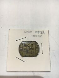 Vintage Brass Coin Meter Token Unique Item To Add To Your Collection Free Ship