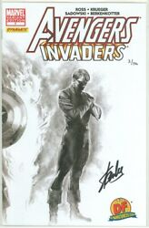 Avengers Invaders 7 Alex Ross Variant Dynamic Forces Signed Stan Lee Df Bucky