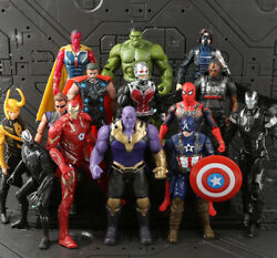 Avengers Action Figures Toy Set 14 Pcs Hero IronMan Hulk Spiderman Thanos Thor