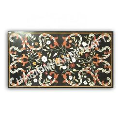 5and039x3and039 Marble Counter Table Top Semi Precious Stones Collectible Inlay Art E987d