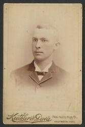 1889 Henry Easterday Rare Baseball Player Vintage Cabinet Photo