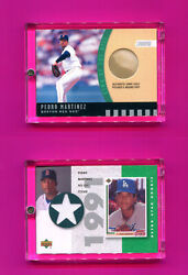 Pedro Martinez Game Used Cards Inserts 2000-2002 Ud Topps Buy 1-2 Add 2 Cart