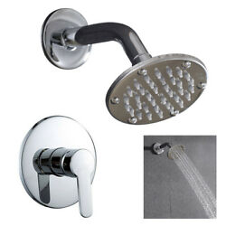 Shower Faucet System Set 4 Inch Rainfall W/ Hot/cold Control Handle 1/2 Dn15