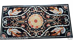 4and039x2and039 Marble Dining Table Top Pietradure Mosaic Inlaid Collectible Decor H1515