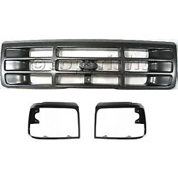 Headlight Door Grille Assembly For 1992-1996 Ford F-150 Kit