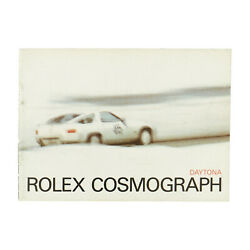 Rolex Vintage Cosmograph Daytona English Booklet From 1984
