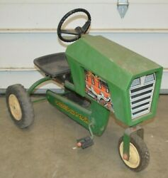 Vintage Amf Power Trac Chain Pedal Tractor Working With Seat Green Plastic