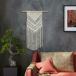 Macrame Wall Hanging Woven Tapestry Home Apartment Dorm Geometric Decor Craft