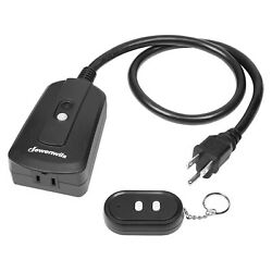 Dewenwils Outdoor Remote Control Outlet Wireless Remote On Off Power Switch