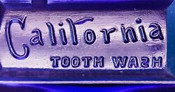 Antique California Tooth Wash Pure Purple Bottle W/ Spelling Error Fancy And Rare