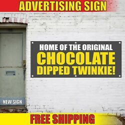 Chocolate Dipped Twinkie Banner Advertising Vinyl Sign Flag Candy Bar Fair Sweet