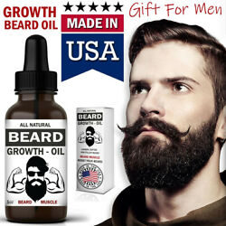 Beard Growth Oil Facial Hair Serum Care Product Mustache Fast Treatment For Men